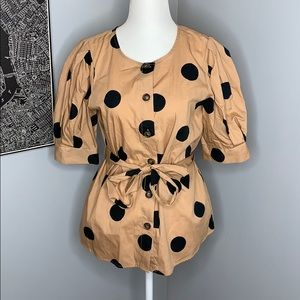 Polka Dot Button Up Blouse